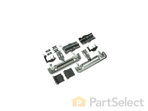 10065979-1-M-Whirlpool-W10712395-Upper Rack Adjuster Kit - White Wheels, Left and Right Sides