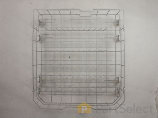8746204-1-M-GE-WD28X10384-Dishwasher Lower Dish Rack with Wheels - Gray