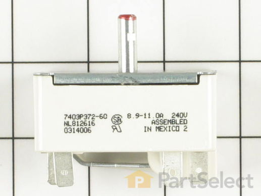Range Infinite Burner Switch - 8 Inch – Part Number: WP7403P239-60