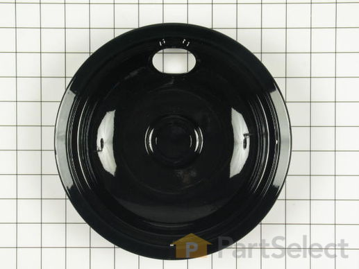 8 Inch Drip Bowl - Black – Part Number: WPW10290350