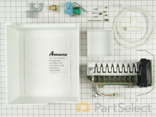 1569082-2-S-Whirlpool-1110702A-Ice Maker Kit with Flat Plug Connector