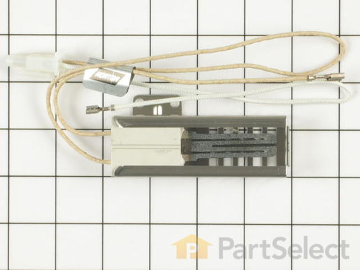 241804 1 M GE WB2X10016 Flat Style Oven Igniter with Wire Harness and Bracket ge wb2x10016 flat style oven igniter with wire harness and ge ignitor wiring harness at bakdesigns.co