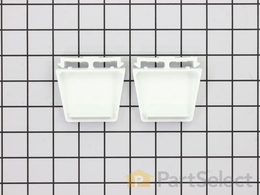 370794-1-S-Whirlpool-4386917           -Door Shelf End Cap Set