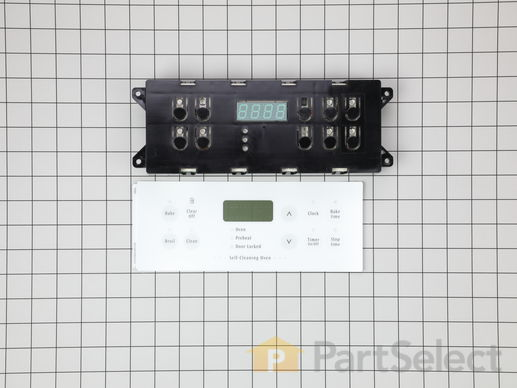 Electronic Clock with Overlay - White – Part Number: 318185446